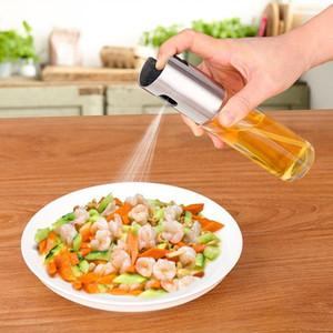 Vaporizador de aceite de oliva de vidrio rociador de aceite Botella vacía Vinagre botella Dispensador de aceite para cocinar ensalada barbacoa hornear cocina C18122401