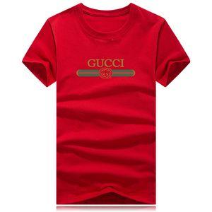 Новая красная зеленая полоса известного бренда футболка высокого качества человек с половиной рукава футболки с круглым воротом дышащая спортивная футболка