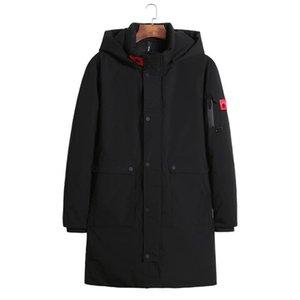 패션 - 2018 겨울 남성 롱 코트 절묘한 팔 포켓 남성 솔리드 파카 따뜻하게 커프 디자인 통기성 원단 자켓