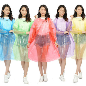 Fashion One-time Raincoat Hot Disposable PE Raincoats Disposable Poncho Rainwear Travel Rain Coat Rain Wear