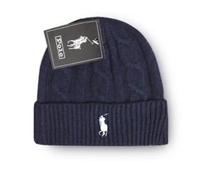 En Çok Satan Kış Unisex polo yün şapkalar moda casual marka skullies Beanies Erkek kadın Çizgili tasarımcı kapaklar kaput gorros örme kap