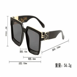 0993Luxury Men's Sunglasses Designer Sunglasses Gold Frame Square Metal Frame