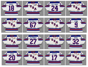 2010 2014 2016 Vintage Team USA Jersey 34 AUSTON MATTHEWS 67 MAX PACIORETTY 18 COLIN WHITE 24 RYAN CALLAHAN White Camisetas de hockey personalizadas