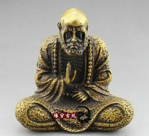 Chinese Wonderful Estátua de bronze velha Bronze Buda da Dharma Mestre