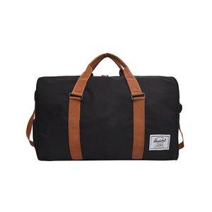 Мужчины женщины конструкторов-черный Дорожная сумка высокого качества холст сумки на ремне сумки женщин Ladies Weekend портативный вещевой Водонепроницаемый Wash
