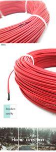 Freeshipping 100 metros 66ohm 6k PTFE retardante de llama cable calefactor especial DIY cable de alambre de la calefacción de fibra de carbono para el calentamiento de materiales de construcción
