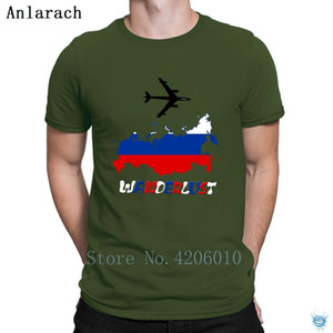 Russia Wanderlust T-Shirt Great Creative New Fashion Tee Tops T Shirt For Men Cheap Natural Spring Anlarach Size S-3xl