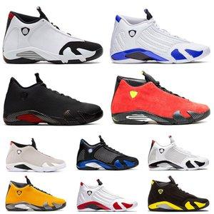 Jumpman Air retro 14 jordan 14 Ferrari 14  14s Hommes Chaussures de Basketball Indiglo Noir Gris Ferrari désert sable orteil Noir Thunder Wolf Gris mens desinger baskets