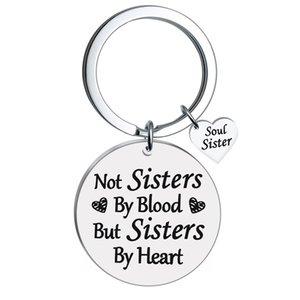 Hot venda de jóias americanas e não Sis. By Blood Good Friend Girlfriends presente com presentes de aço inoxidável Keychain