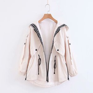 Women Jacket New Arrival 2020 Autumn Windbreaker Classicla Style Fashion Simple Trend Size : S-2XL 4-Color