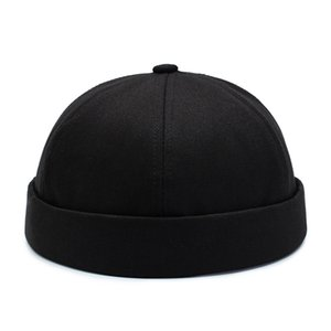 Vintage Dome Hat Mens Warm Velvet Beanies For Men Retro Crimping Brimless Skull Caps Autumn Casual Hip Hop Cap Gorro