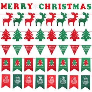 Weihnachten Flags Party Supplies Bunte Banner Weihnachtsdekorationen Home Decor Flaggen Weihnachtsmann Schneemann Weihnachten Flags RRA1832
