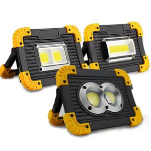 Energía móvil / Lampe Led Proyector portátil Luz de trabajo recargable Led luz de trabajo 18650 Luz al aire libre para cazar Camping Led Latern linterna
