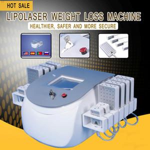 المهنية 650nm 980nm المحمولة ديود lipolaser يبو الليزر غير الغازية 12 منصات التخسيس آلة حرق الدهون