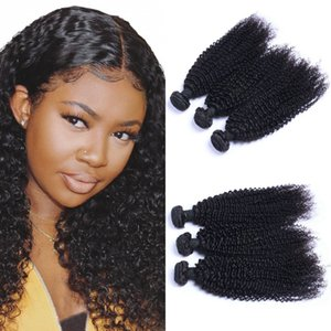 Indian Virgin Hair Weaves 3 Bundles Kinky Curly Human Hair Weft 8-26 inch Unprocessed Hair Extensions