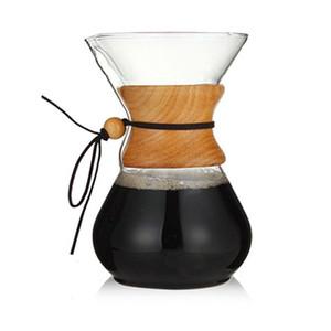 800ml di vetro termoresistente Coffee Pot da caffè Coppe contati e caffè Barista Percolator