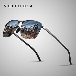 Veithdia 2019 Marka Tasarımcı Moda Kare Güneş Erkek Polarize Kaplama Ayna Güneş Gözlük Gözlük Aksesuar İçin Erkekler 2462 Y200415
