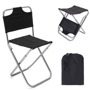 Ultra-Light 7075 Aluminum Alloy Folding Chair Outdoor Portable Stool Casual Fishing Chair BBQ Stool