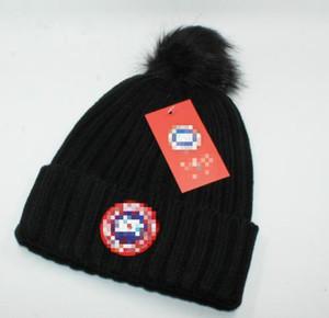 Männer Frauen Stickerei Bommelmützen Hip Hop Tanzen Sport Strickmütze Winter Damen Caps Skullies Bonnet Beanies