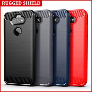 Para LG Aristo 5 Plus / K300 / Phoenix 5 / Fortuna 3 / K31 Q31 Q92 caja de la fibra de carbono de silicio suave del teléfono del gel de TPU Shell