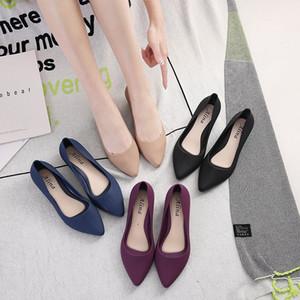 Plastik kadın ayakkabıları topuk yumuşak taban profesyonel rahat iş ayakkabıları su geçirmez öğütülmüş sandal yönlü dört mevsim eylemi takoz sivri