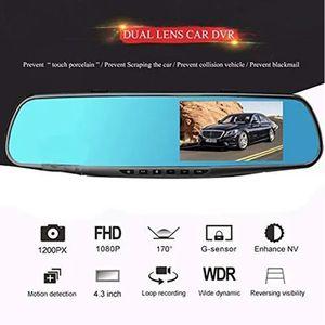 4,3 pouces HD 1080P Dash Cam Car Camera Recorder DVR Auto détection de mouvement Rearview Mirror Night Vision Drive Recorder