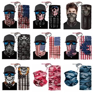 Outdoor USA Flag magic headscarf bandana cycling masks Head Neck Scarves Windproof Sport face mask with Filter party Mask T2I51007