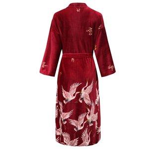 Chinese Women New Velour Bride Bridesmaid Kimono Bathrobe Dress Sexy Mini Sleep Nightshirt Sleepwear Wedding Dressing Gown Robes