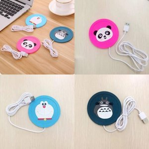 Soft Glue Heating Cup Non Slip Pad Cartoon 5v Usb Heat Custom Warmer Silicone Mug Mat Heater