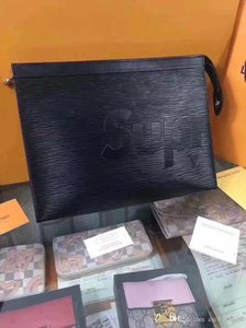 #5664 5A L Brand V POCHETTE VOYAGE Wash Bag for Women Fashion Men Totes Clutch Wallet Wrists Handbags Clutch Bag N41696 M61692 M47542