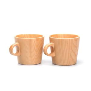 Boisson en bois tasse de café thé bière jus tasses de lait anti-échaudage unique oreille Bois eau Tasses CCA11957 25pcs