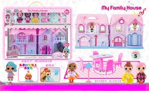 2018 yeni stil El yapımı Doll Villaları, Hafif Müzik Kale Doll Suit, Mobilya, Doll Yağmurlama, Değişken renkli saç oyuncaklar