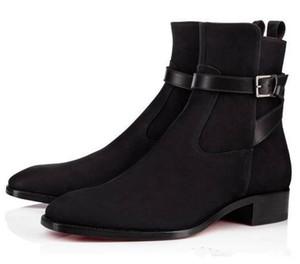 2020 botas de alta qualidade Red inferior Homens Causal nuas a parte superior dos sapatos da moda Marca Mulheres confortável apartamento de luxo de moda botas de Cavaleiro