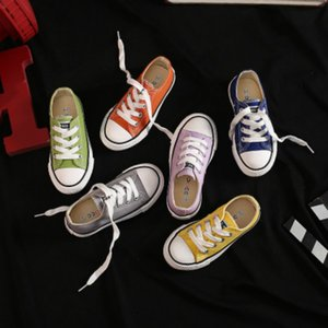Children Fashion Canvas Shoes 2020 New Arrival Kids Classic Low-top Lace-up Shoes Boys Girls Unisex Casual Shoes 2020