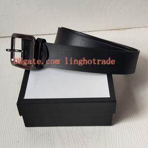 progettista cinghie della cinghia di modo degli uomini genuino delle donne della cinghia di cuoio del progettista allaccia le cinghie di lusso 2,0 centimetri, 3.0cm, 3,4 cm, larghezza di 3.8cm grossa fibbia con la scatola