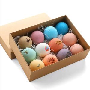 12pcs box Bubble Bath Ball Essential Oil Bath Sea Salt Bath Ball Gift Preference for Adult and Children