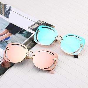 In 2020, the latest best-selling fashion trim rimless sunglasses female personality sunglasses fashion trend polygonal ocean sunglasses