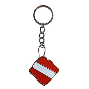 Zinc Alloy Diving Flag Key Chain Holder Keyring Keychain Pedant