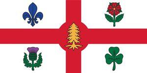 150 cm * 90 cm Canada Montreal Bandiera Bandiera del territorio provinciale canadese 3 * 5FT Poliestere Personalizzato Appeso Decorativo per la casa