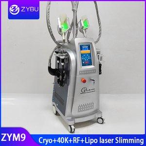 Новейшая машина для похудения 4 в 1 для похудения Кавитация RF Лазер Lipo Потеря жира 3 Криоголовки Fat Freeze Spa Оборудование для криотерапии