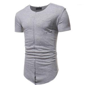 Printed Short Sleeve Panelled Taschen Designer Tops beiläufige Mens-Kleidungs-Sommer Mens Designer Solid Color Tshirts
