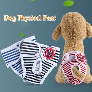 Female dogs Physiological pants Apparel pet dogs supplies clothing all season use fastening Menstruation pants Clean striped underpants 0120
