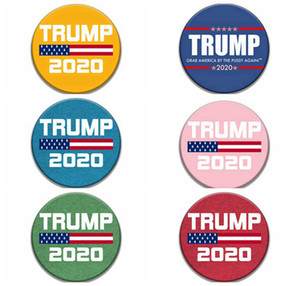 Donald Trump 2020 Brooches 2020 USA President Election Commemorative Pin Badge Party Favor Gifts 9styles RRA3140