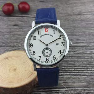 Top vente de luxe Montre Homme Marque Cadran Noir Quartz Royal Hommes chronometre en acier inoxydable montre Montres Livraison gratuite