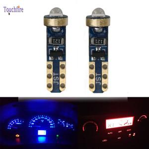 100PCS T5 LED 자동차 전구 웨지 LED 조명 대시 보드 악기 램프 6000K 화이트 핑크 아이스 블루 레드 옐로우 그린 미터를 3030smd