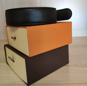 Hot 2020 Classic Negro de lujo correas de alta calidad Ceinture superior del diseñador de moda mens de la correa de hebilla grande de perlas para mujer Cinturones Envío gratuito