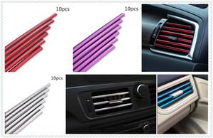 10pcs car auto protection strip personality air conditioning outlet trim strip for A4 Avant A4 Cabriolet A6L A8L