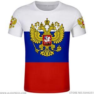 RUSSIE t-shirt numéro sans nom sur mesure rus drapeau t-shirt socialiste russe CCCP urss diy Rossiyskaya ru vêtements union soviétique Y200409