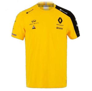 F1 Renault Renault 2019 Kısa Kollu Tişört Takım Takım Elbise Yarışı Suit Infiniti Motokros Yarışı Suit