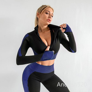 Women Yoga Set Running Seamless Gym Clothing Fitness Leggings + Crop Top Sportswear High Waist Fitness Legging Workout Yoga Suit